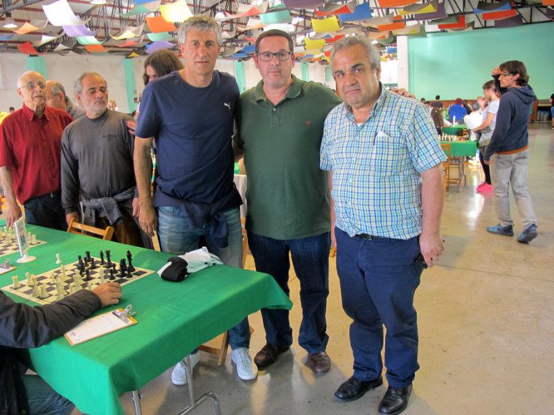 Visita de Quique Setién, entrenador de la U.D. Las Palmas